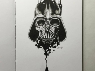 Kerby Rosanes – Sketchy stories illustration Dark vador