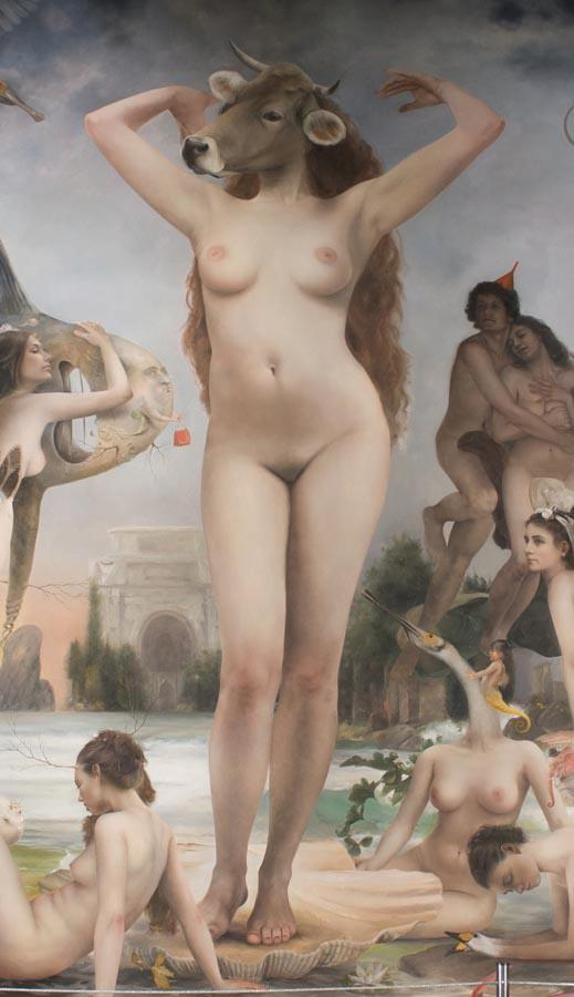 Quim Hereu – The strambotic birth of Venus – oil on canvas