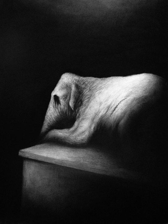 Victor Soren – dessins – La longue attente