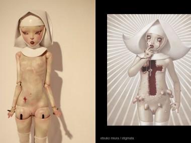 "Miura Etsuko – Sculptures ""Stigmata"""