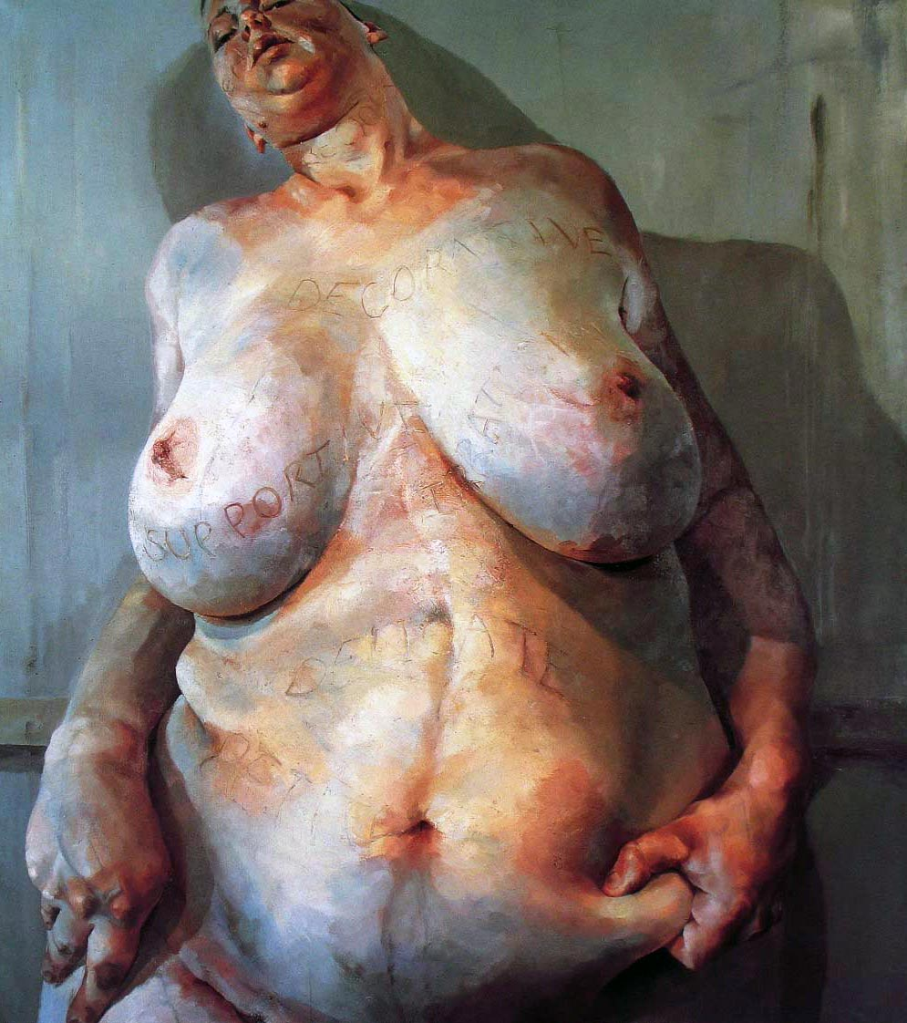 Jenny Saville – Branded, 1992, Oil on canvas, 209,5 x 179 cm