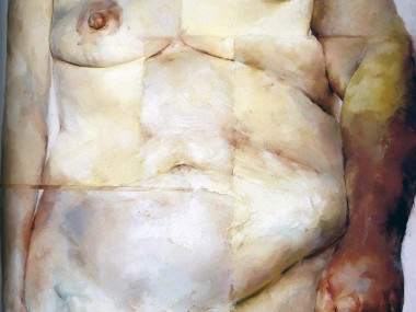 Jenny Saville – Hybrid, 1997, Oil on canvas, 274.3 x 213.4 cm
