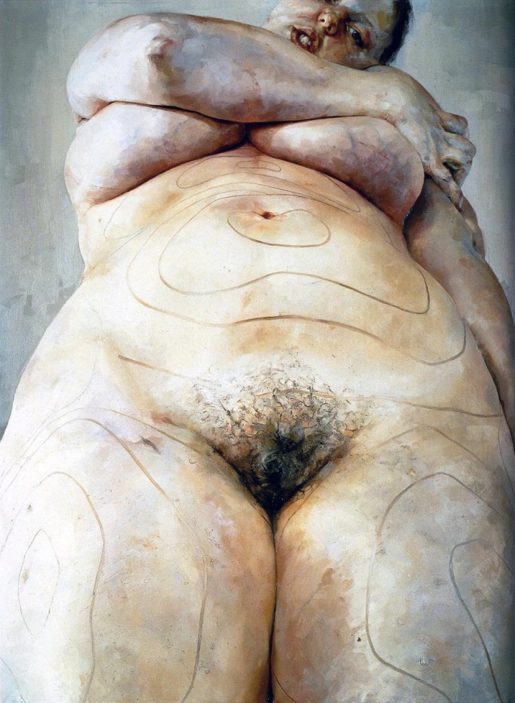 Jenny Saville - Plan, 1993, Oil on canvas, 274.3 x 213.4 cm