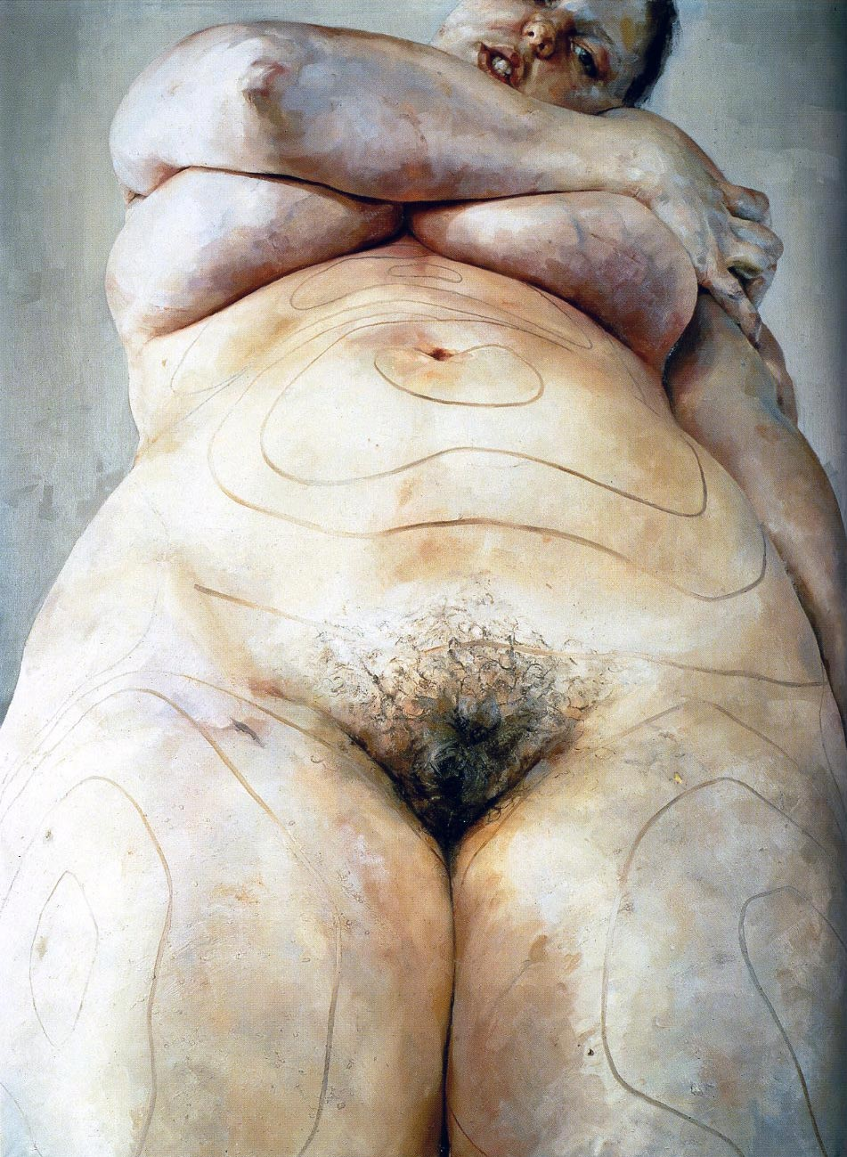 Jenny Saville – Plan, 1993, Oil on canvas, 274.3 x 213.4 cm