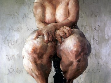 Jenny Saville – Propped, 1992, Oil on canvas, 213.4 x 182.9 cm