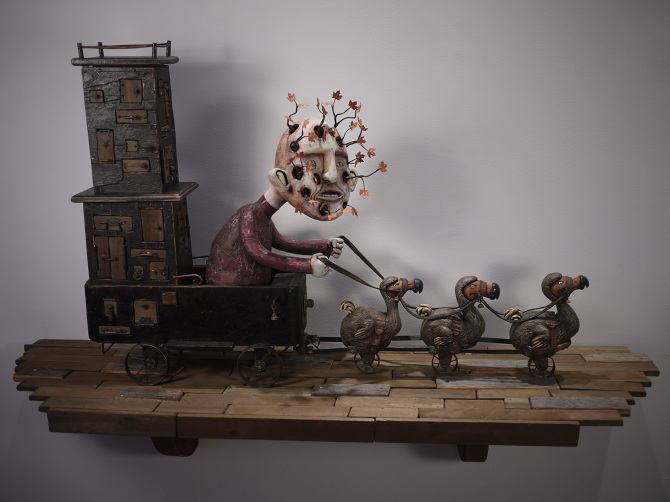 Kevin Titzer Sculptures – On The Road To Obsolescence – 2011