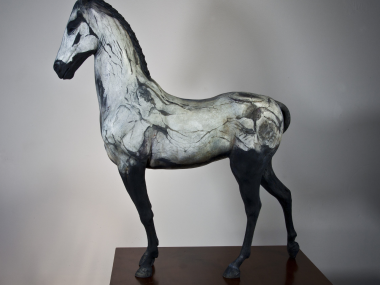 Neil Clifford – Spirit Within – Sculpture – Plaster on Stainless Steel