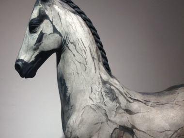 Neil Clifford – Spirit Within – Sculpture – Plaster on Stainless Steel detail