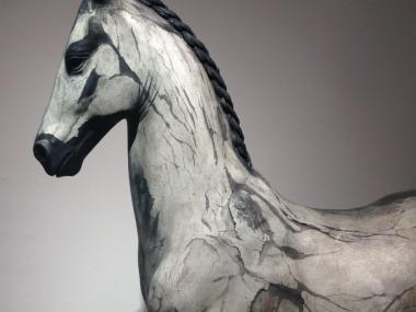 Neil Clifford – Spirit Within – Sculpture – Plaster on Stainless Steel detail