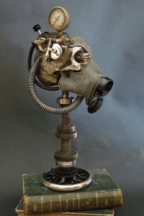 Gonzal – Sculptures steampunk crânes – hommes augmentés