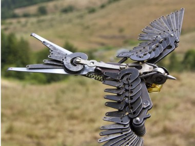 Jeremy Mayer – Bird – Typewriter assemblage sculptures