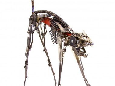 Jeremy Mayer – Cat XXI – Typewriter parts – 20 x 30 x 50 cm – 2014