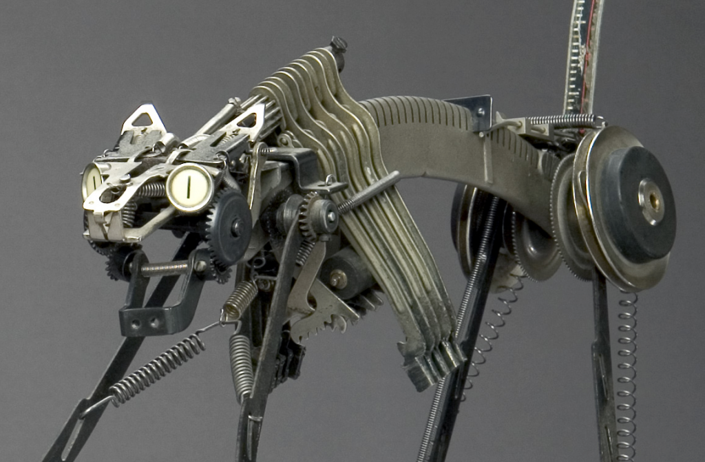 Jeremy Mayer - Typewriter assemblage sculpture - Cat