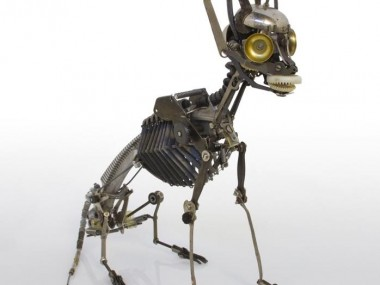 Jeremy Mayer – Typewriter assemblage sculpture Cat