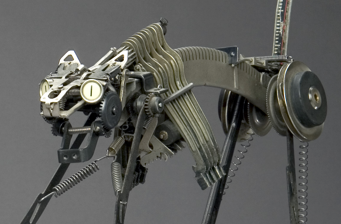 Jeremy Mayer – Typewriter assemblage sculpture – Cat