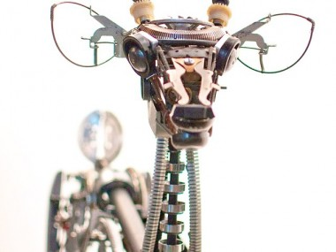 Jeremy Mayer – Typewriter assemblage sculpture – Deer III. 2010
