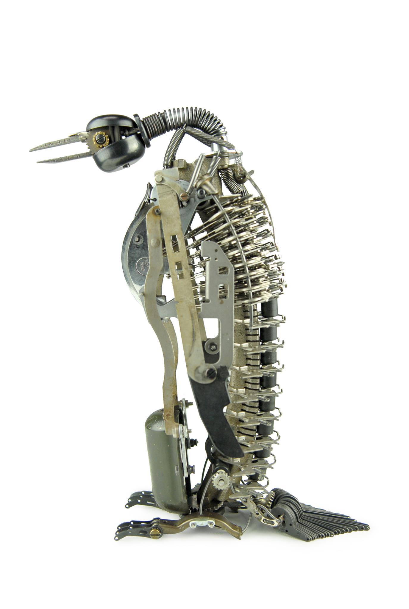 Jeremy Mayer – Typewriter assemblage sculpture – Penguin III