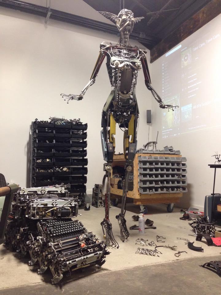 Jeremy Mayer – Typewriter assemblage sculpture atelier