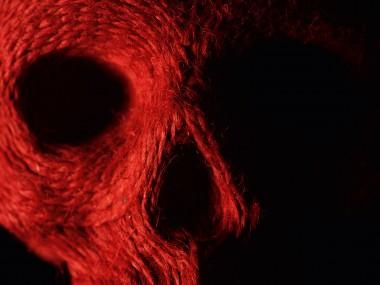 Jim skull – Corde et feutrine