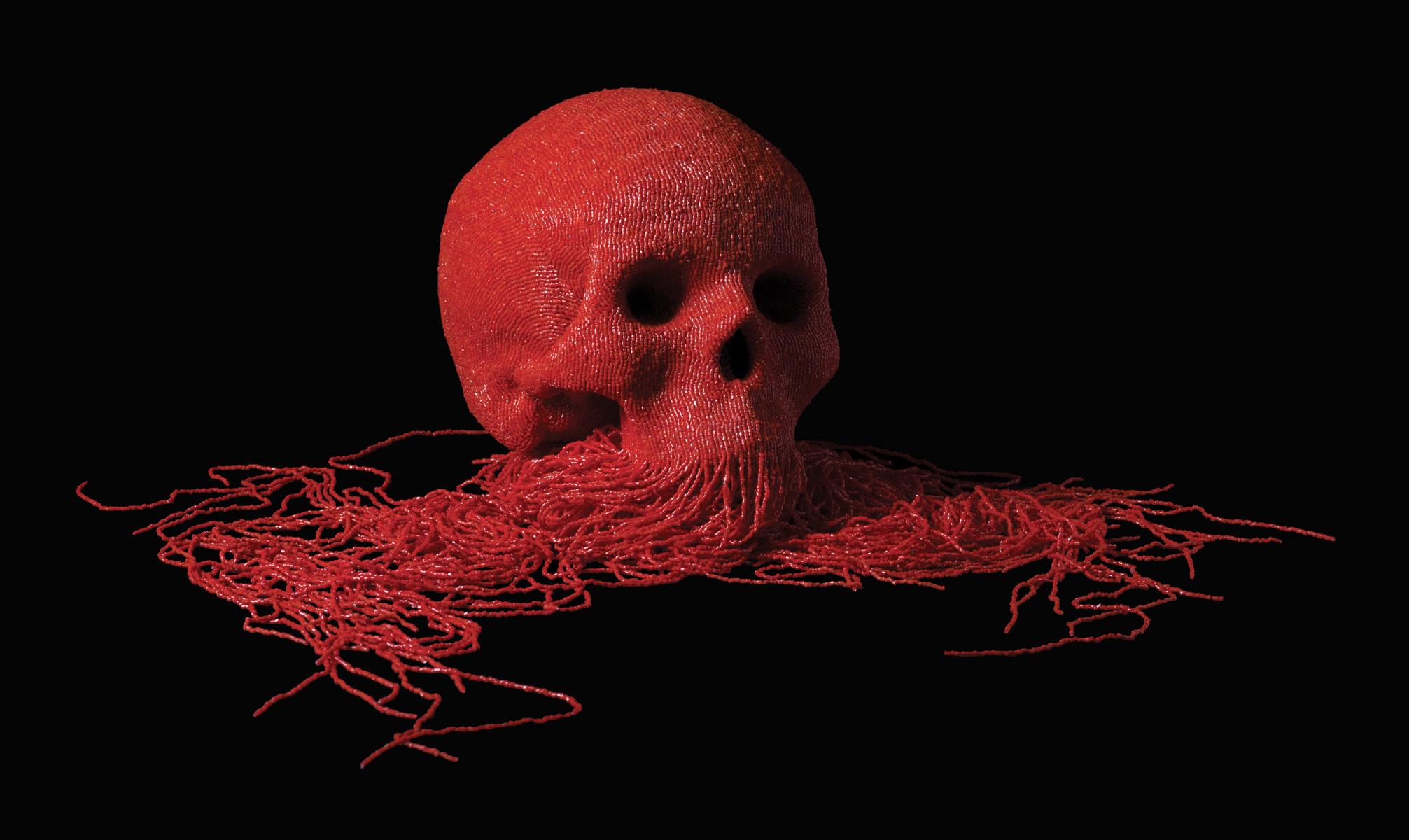 Jim skull – Sculptures perles/corail 2013 / www.jim-skullgallery.com