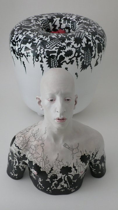 Fausto Salvi Ceramic sculpture