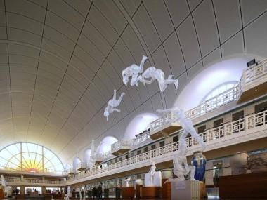 Installation Musée de la Piscine Roubaix sculptures – ESAAT 2016