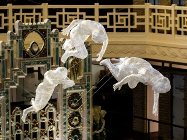 Installation sculptures ESAAT roubaix musee piscine