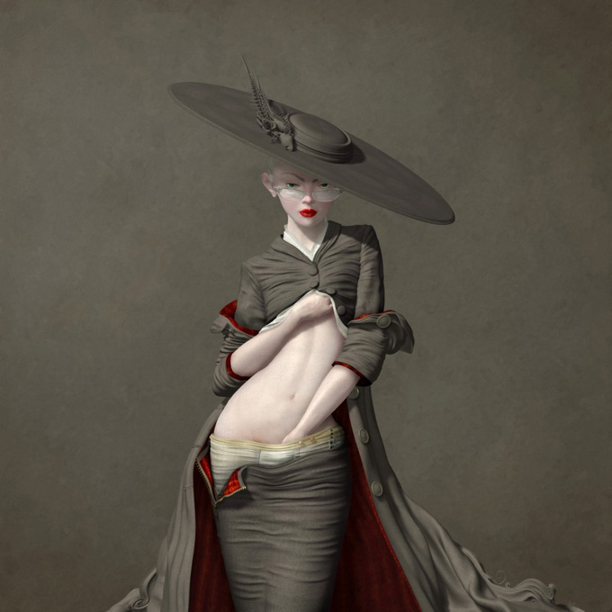 Ray Caesar - Digital art - Self examination