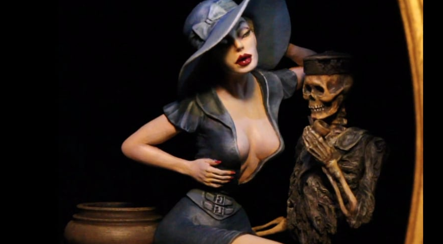""" The Widow's Jar"" automaton by Thomas Kuntz"