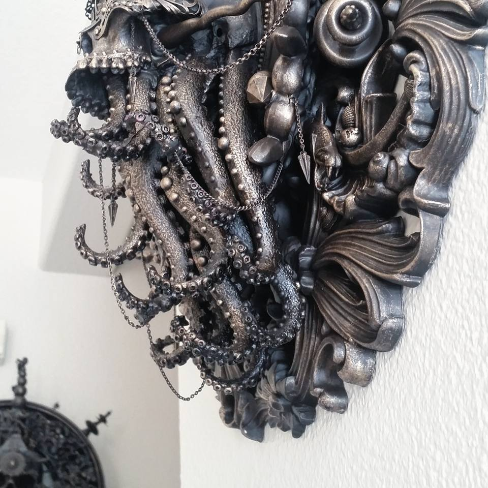 Cam Rackam – Sculptures – Detail shot of Blind Cthulhu