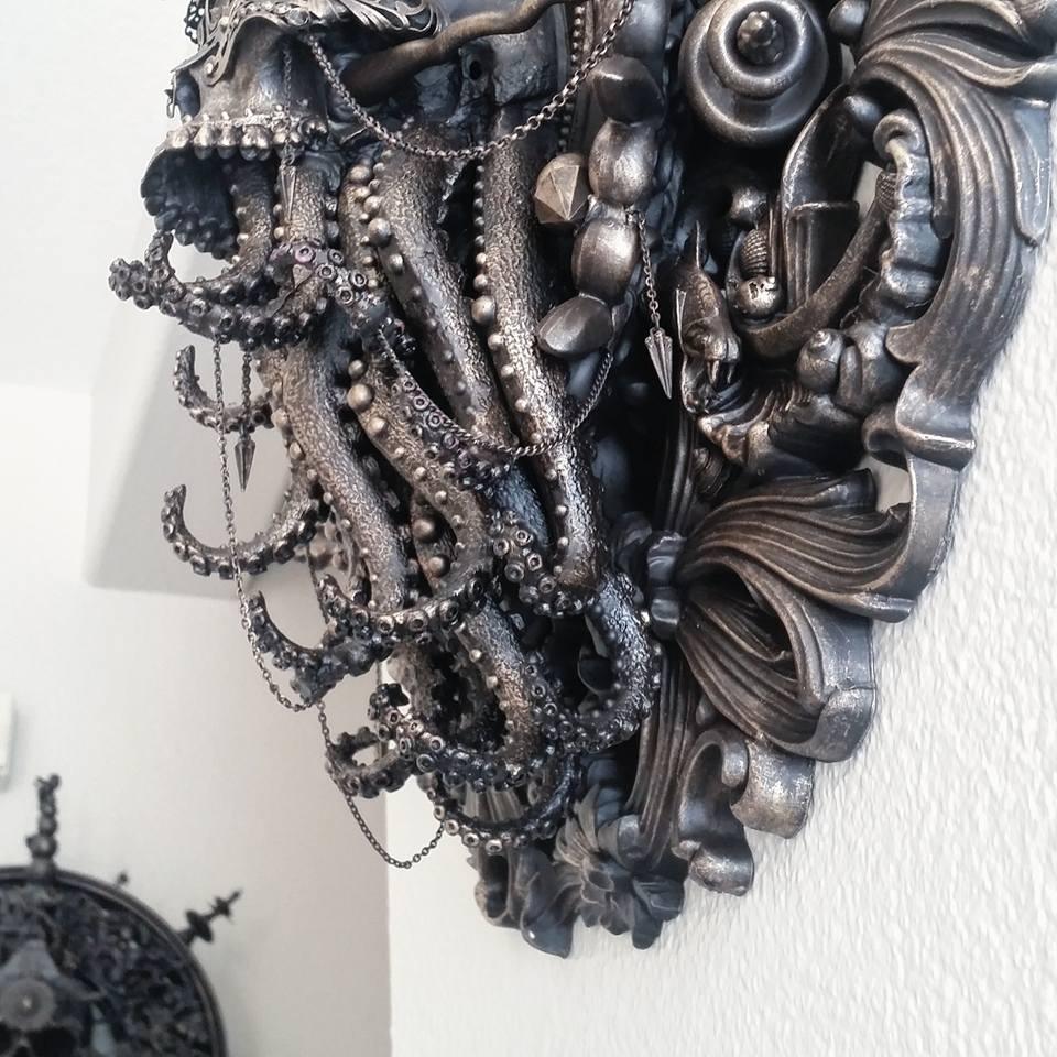 Cam Rackam – Sculptures – Detail shot of Blind Cthulhu