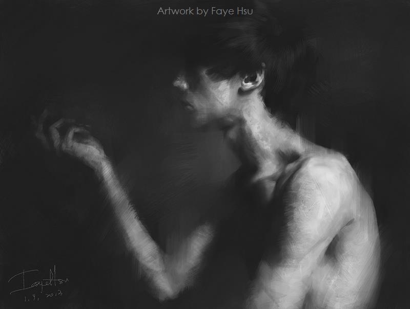 Faye Hsu – Male figure digitale painting