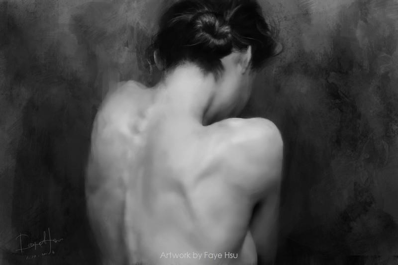 Faye Hsu – paint from photo(photographer- Errikos Andreou. Model- Basia