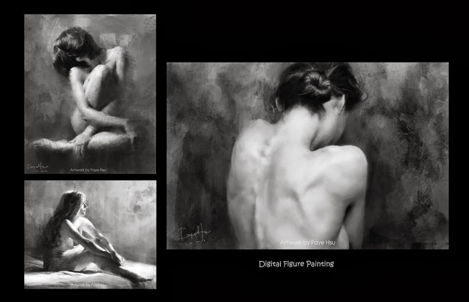 Faye Hsu – paint from photo in progress