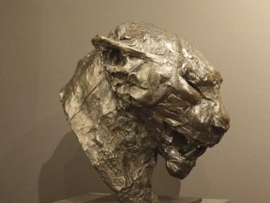 Patrick Villas – Sculptures – Tête de léopard grognant – Bronze – 27 x 17 x 26 cm