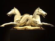 Sculpture en marbre issue d'une fontaine italienne du 19ème siècle. Galerie Victor Werner