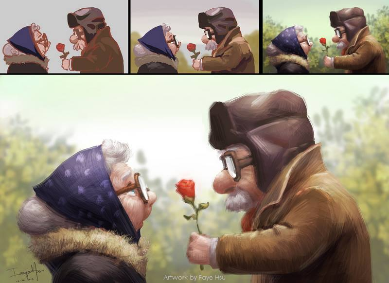 "faye hsu – digitale illustration ""Rose"""