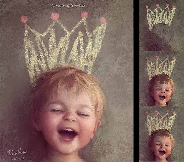 "faye hsu – digitale illustration ""little king"""