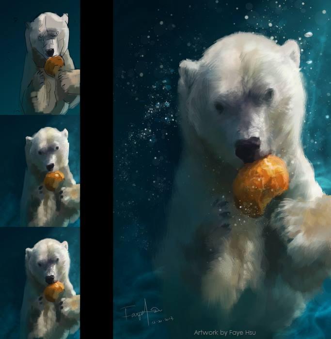 faye hsu – digitale illustration bear