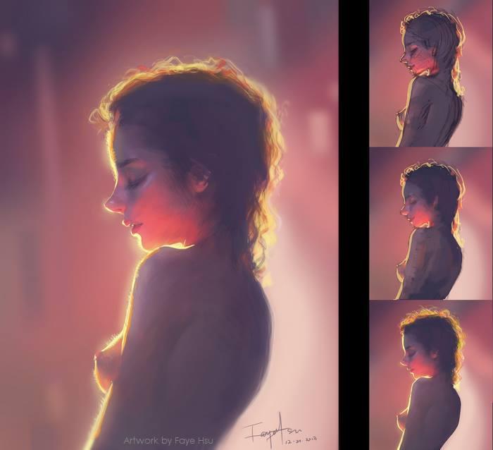 faye hsu – digitale illustration girl