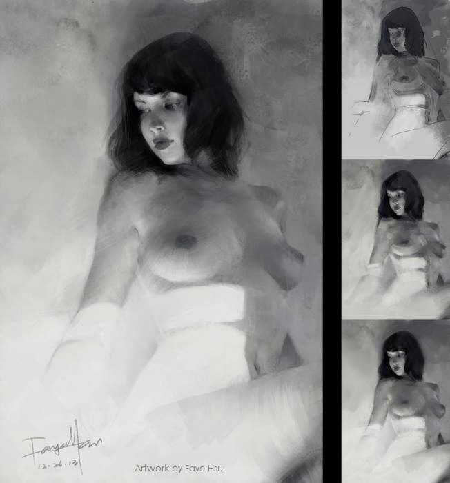 faye hsu – digitale illustration nude woman