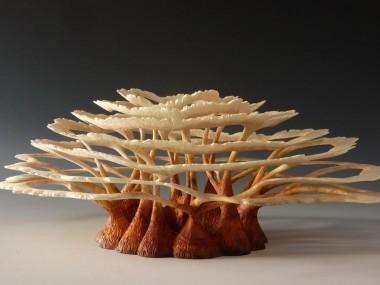 Alain Mailland – Sculpture Archipel – Loupe de robinier