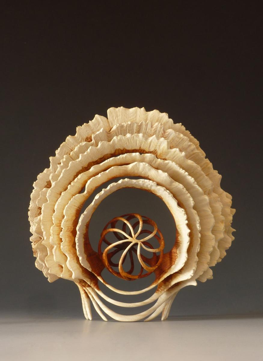 Alain Mailland – Sculpture Sirocco – Loupe d'acacia