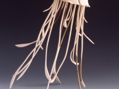 Alain Mailland – Sculpture The elegance of Pelagie – Pistachier