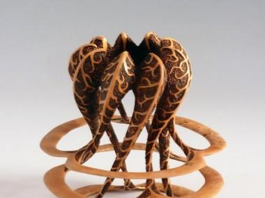 Alain Mailland – Sculpture Tous Ensemble – Loupe d'erable