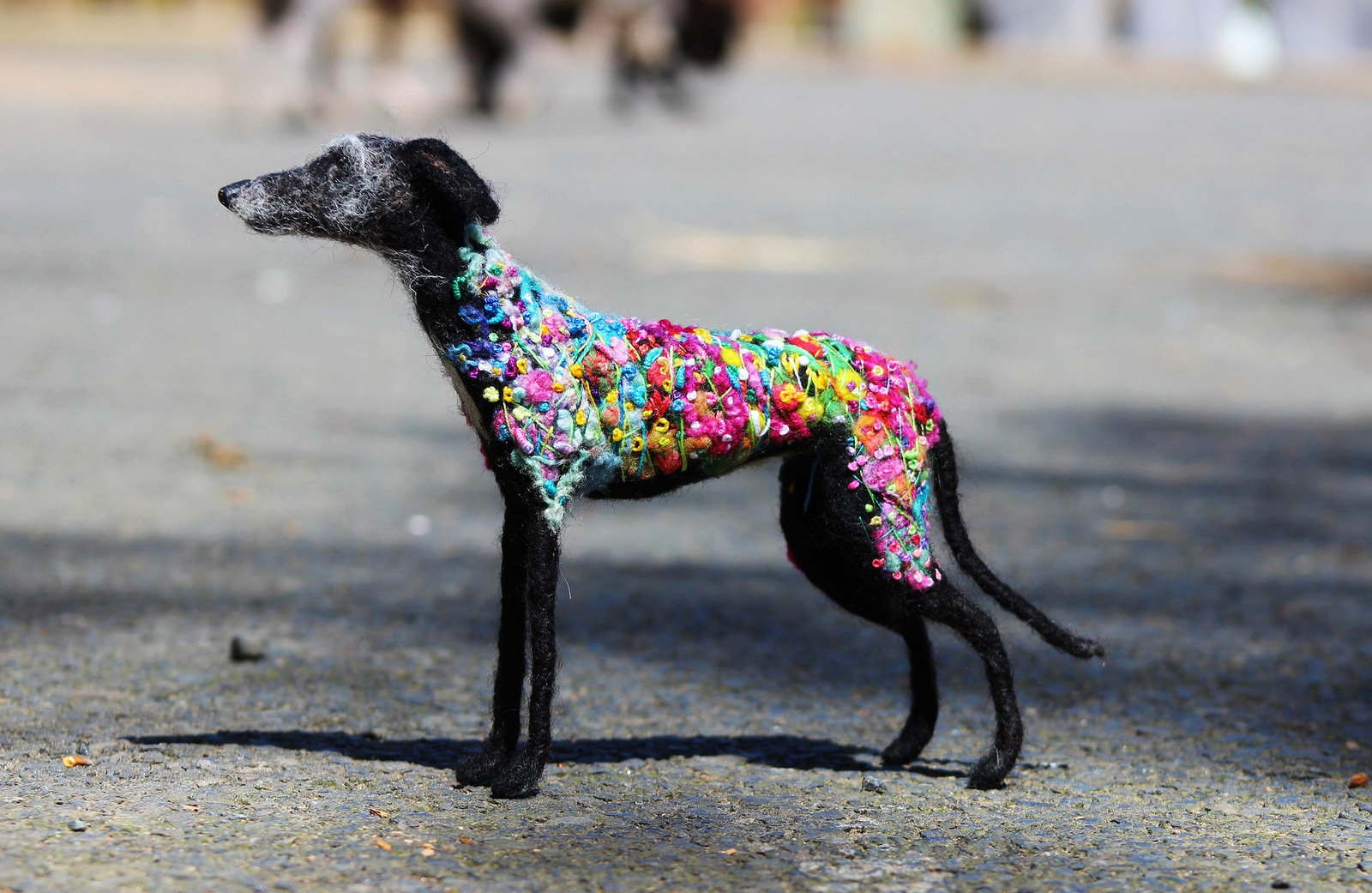 Dee McCracken – wool dog sculpture