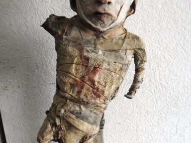 "Stroff Denis – Sculptures mixed media – ""Marqué"" Mixed media – h. 55 cm"