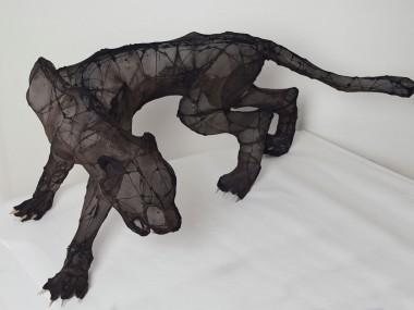 Eglantine Bacro – Textile sculptures panthere