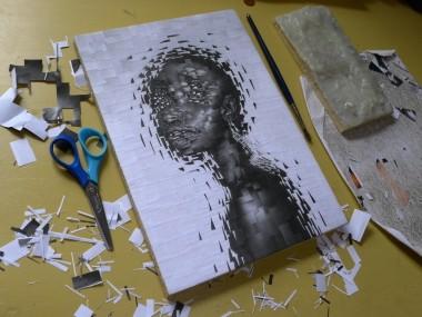 Lola Dupré – Paper collage – Alek Wek