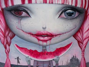 Adrian Borda – Haunting lust – oil on canvas 50 x 70 cm